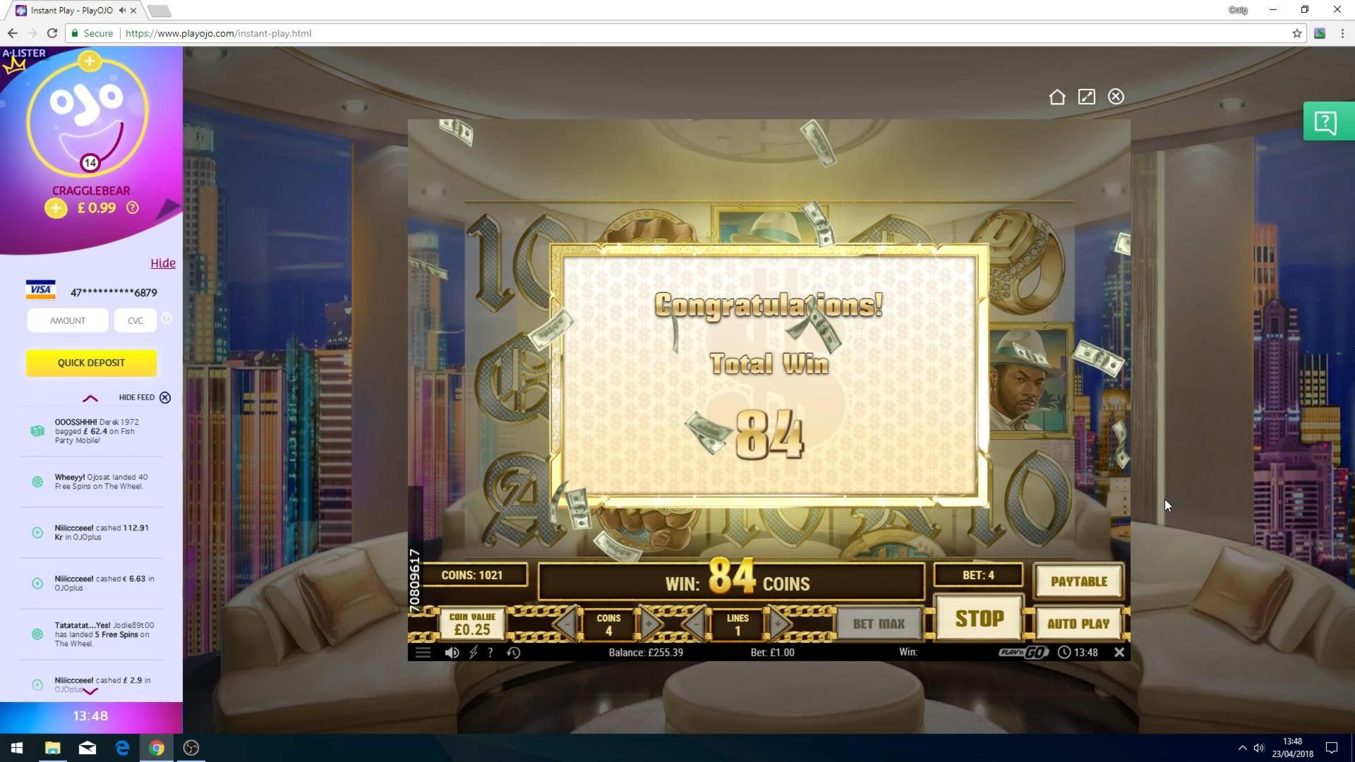 การแข่งขัน Eur 705 คาสิโนฟรีโรลที่ Bovada Casino