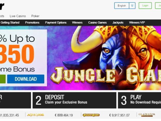 980% โบนัสเงินฝากครั้งแรกที่ Raging Bull Casino