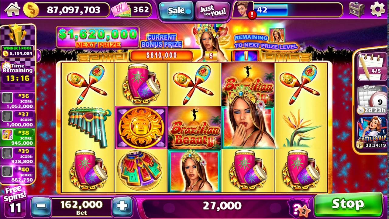 "BRAZILIAN BEAUTY Video Slot Worldwide Casino Online Game with ""BIG WIN"" FREE SPIN BONUSA"