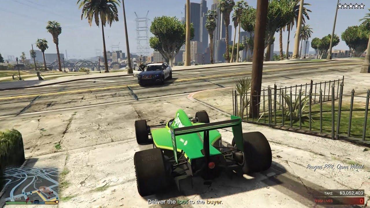 GTA Online Casino Online Heist: Pakenee poliiseja F1-autoilla!