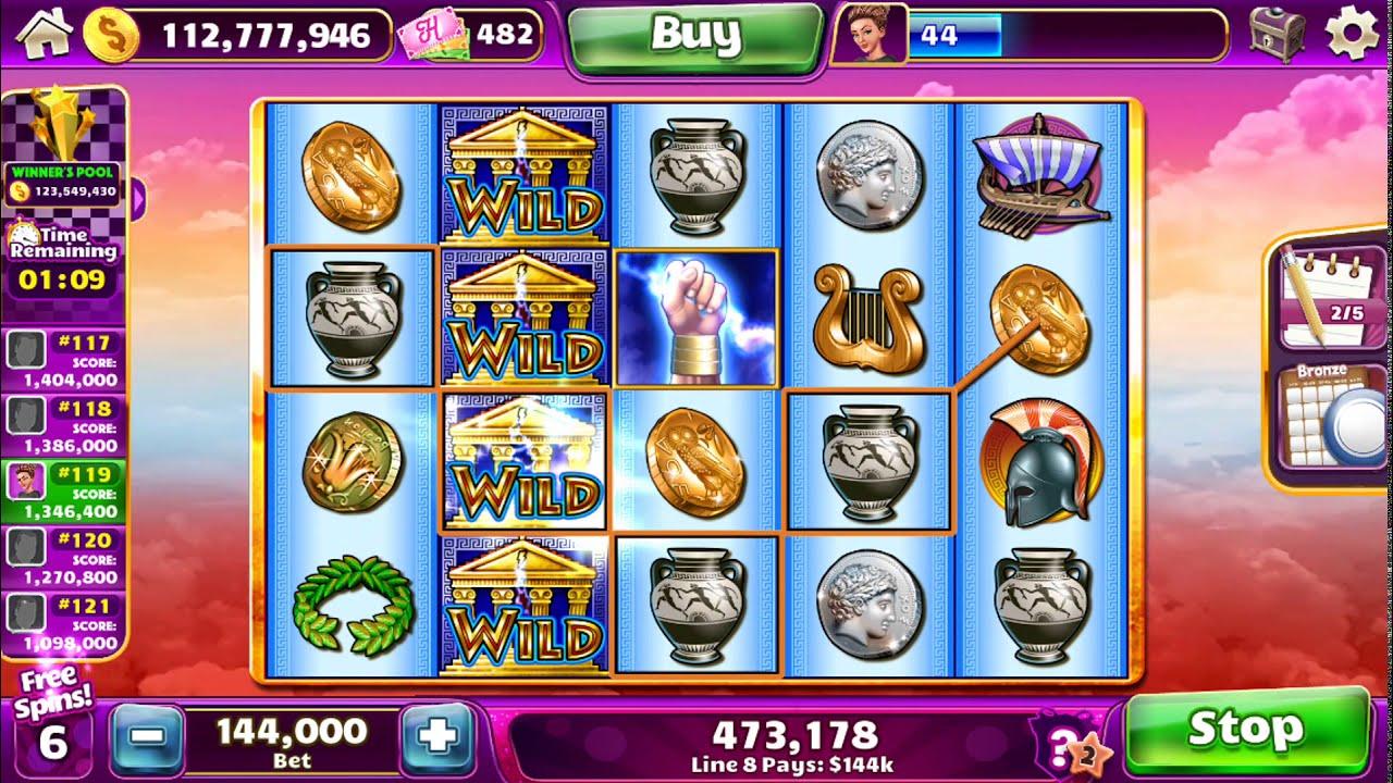 ZEUS II Video Slot Worldwide Casino Online Game com um BÔNUS SPIN GRATUITO